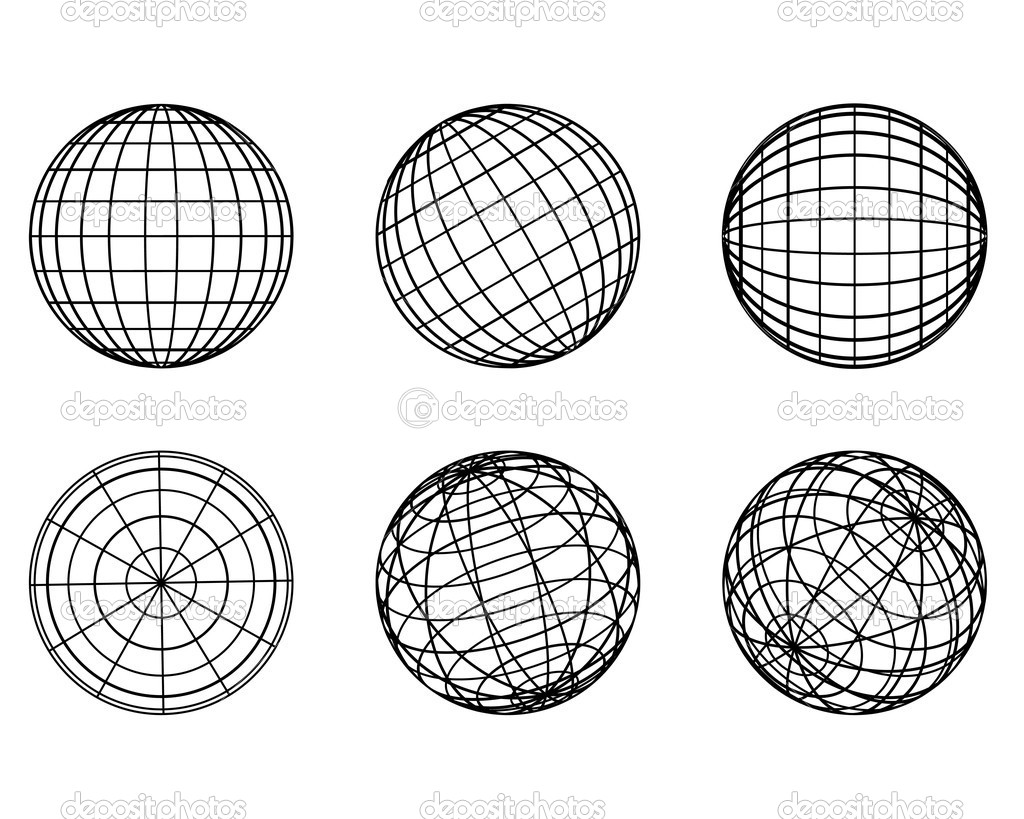 Illustration: original globe elements-spheres  Stock Vector #3335325