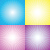 Starburst, sunburst — Stock Vector