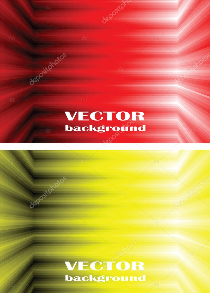 Vector abstract background. Shone lines on a yellow and red background — Stock Vector #3587833