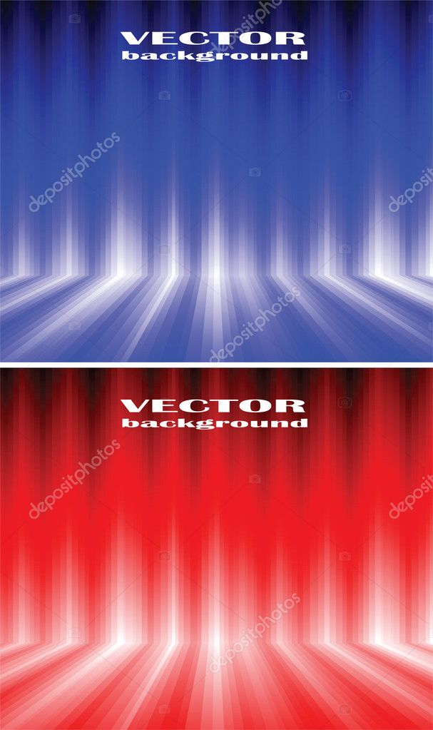 Vector abstract background. Shone lines on a blue and red background — Stock Vector #3587839