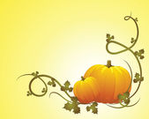 Halloween pumpkin vegetables — Vector de stock