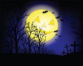 La noche de halloween — Vector de stock