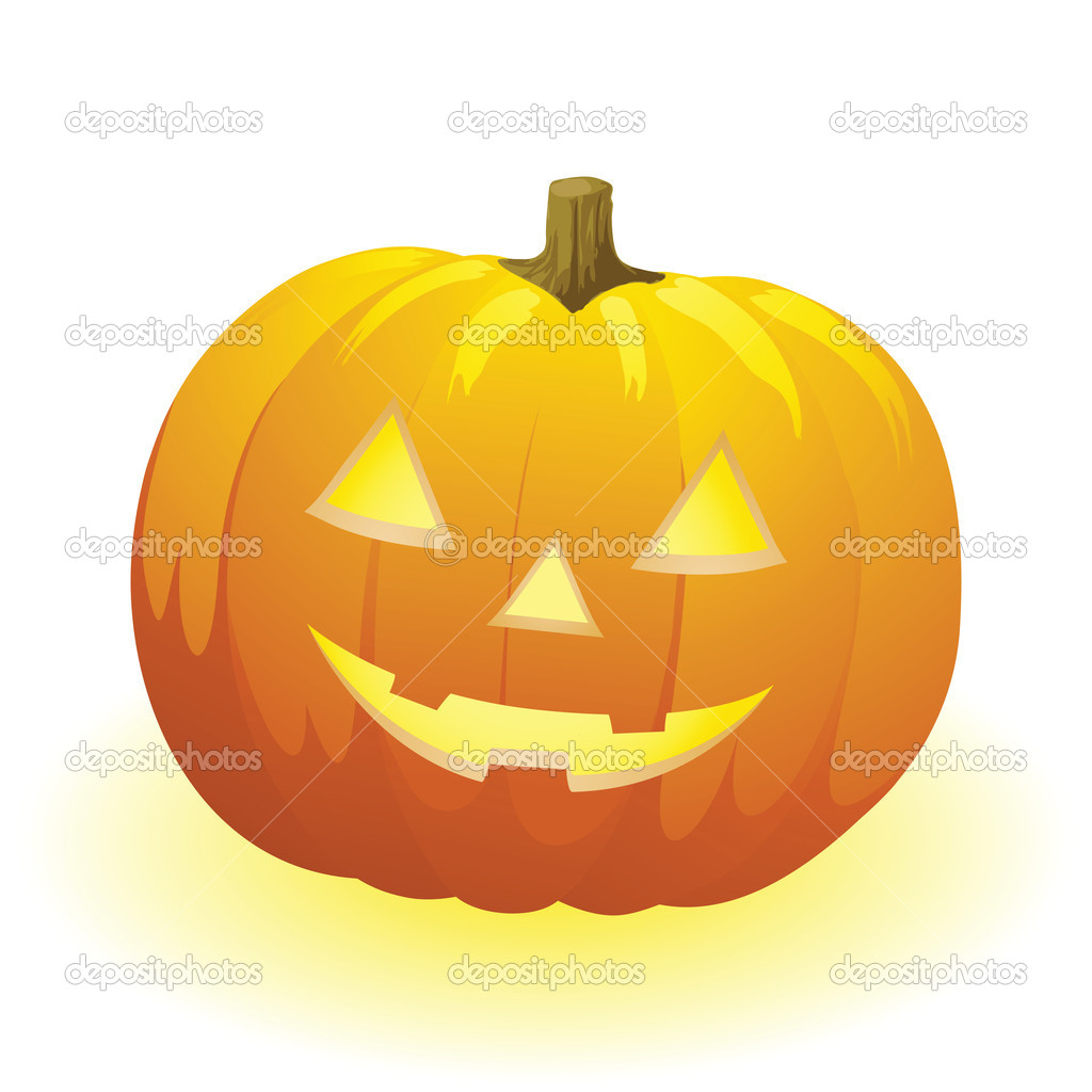 Vector halloween pumpkin vegetable fruit isolated on white background — Stock Vector #3777629