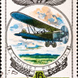 Postage stamp show vintage plane R-5 — Stock Photo