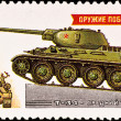Russian panzer T-34 — Stock Photo