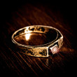 Stock Photo: Old silver ring