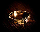 Old silver ring — Stock Photo