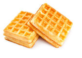 Two soft waffles — Stock Photo