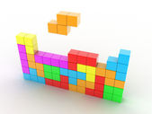 Tetris game — Stock Photo