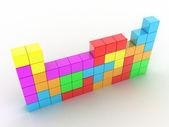 Tetris game — Stock Photo