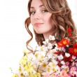 Beautiful girl with spring flower. — Stock Photo #2778585