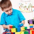 Child with construction set — Stock Photo #2778779