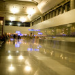 Airport. Modern, illuminated, buildining - Stock Photo