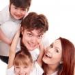 Happy family mother, father, daughter and son. — Stock Photo #3307200