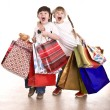 Boy and girl with shopping bag. — Stock Photo #3307239