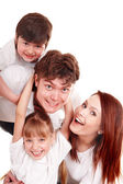Happy family mother, father, daughter and son. — Stock Photo
