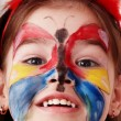 Royalty-Free Stock Photo: Child with paint of face.