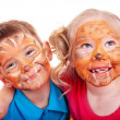 Children with paint of face. — Стоковое фото #3317724