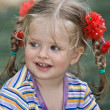 Cute child with long hair. - Lizenzfreies Foto