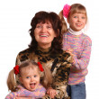 Happy grandmother and two granddaughter. — Stock Photo #3318768