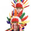 Stock Photo: Two brother in indian costume.