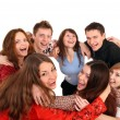 Stock Photo: Cheerful group of young