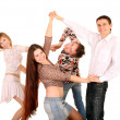 Stock Photo: Group of young dance.