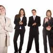 Group of businessman applaud. - Stock Photo