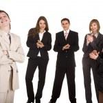 Group of businessman applaud. — Stock Photo