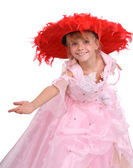 Happy time for little girl — Stockfoto