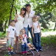 Beautiful famili — Stockfoto