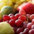 Group fruit background with frame. — Photo