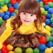Child in group colourful ball. — Stock Photo #3321097