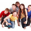Group of happy young — Stock Photo