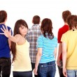 Group of young go away. — Stock Photo