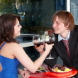 Couple on date in restaurant. — Stock Photo #3321426
