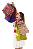 Young girl with shopping bag. — Stock Photo