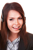 Girl face from support service. — Stock Photo