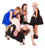 Dans grubunun mutlu — Stok fotoğraf