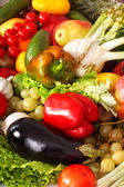 Background of vegetable and fruit group. — Stock Photo