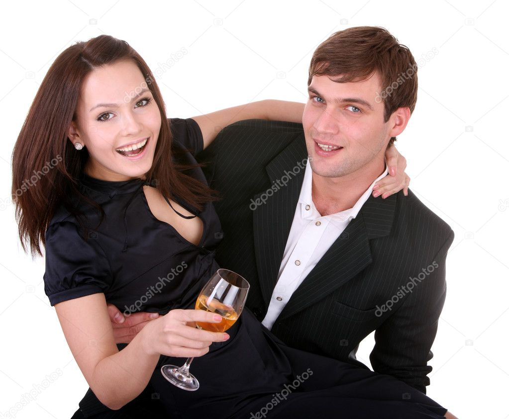 Couple of girl and man. Love and passion. — Stock Photo #3320040