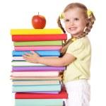 Child holding pile of books. — Stock Photo #3584929