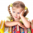 Child holding pile of books. — Stock Photo #3584958