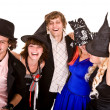 Group of in witch costume. — Stock Photo #3895909