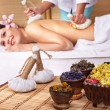 Young woman on massage table in beauty spa. — Stock Photo #3901168