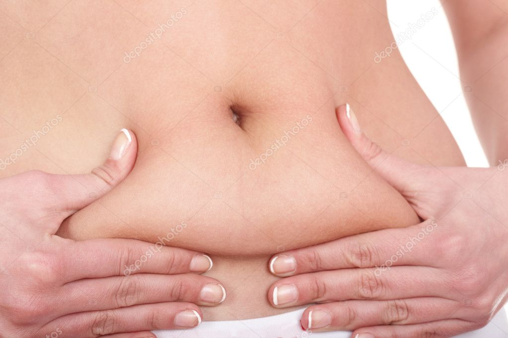 Fat female body part. Isolated. — Stock Photo #3900818