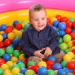 Royalty-Free Stock Photo: Birthday of  boy in colored balls.