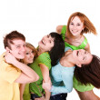 Happy group of young — Stock Photo