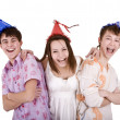 Happy birthday group of young — Stock Photo