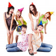 Group of in party hat celebrate birthday. — Stock Photo #3915709
